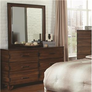 Coaster Yorkshire Dresser and Mirror Combo