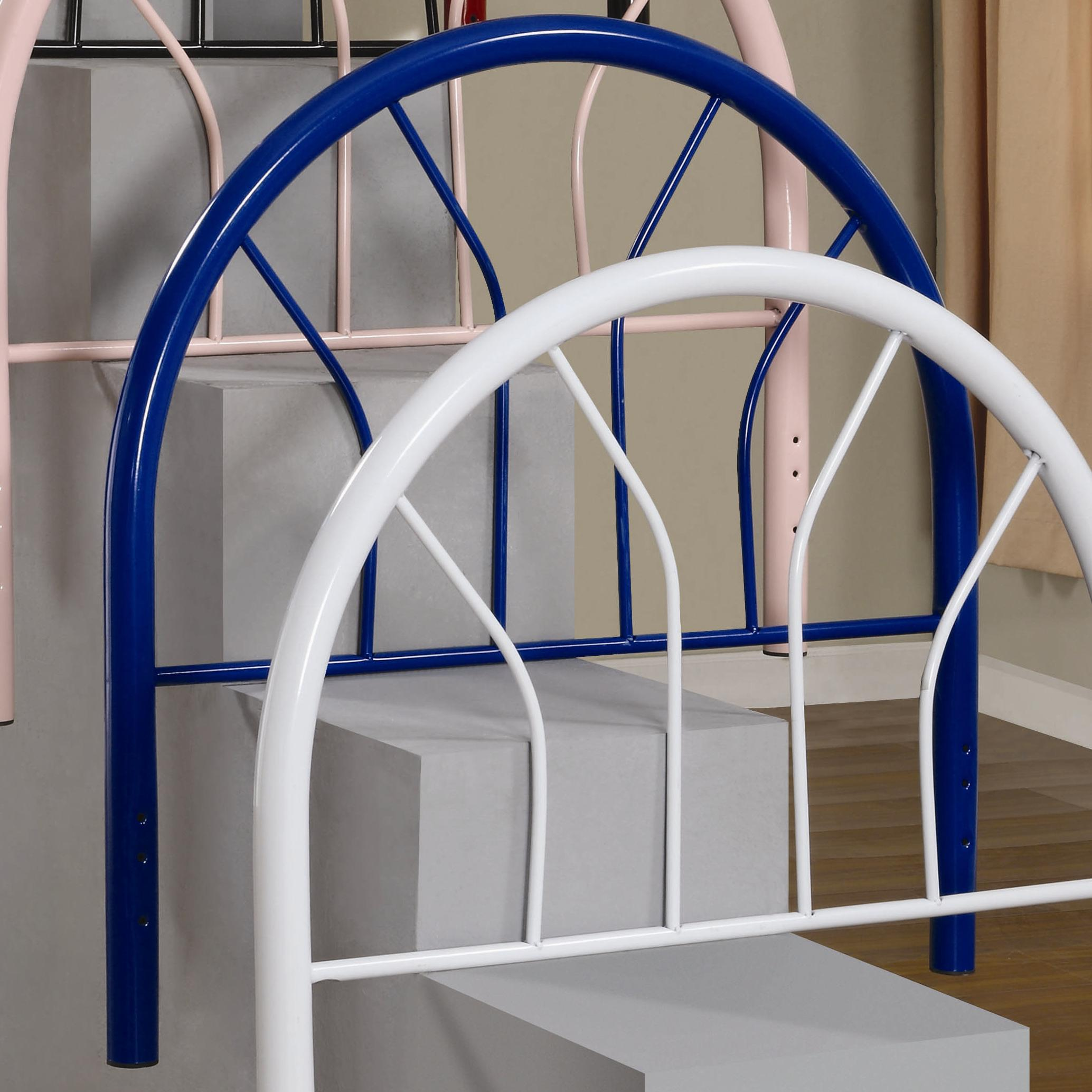 Coaster Youth Beds Twin Blue Metal Headboard - Item Number: 2366NT