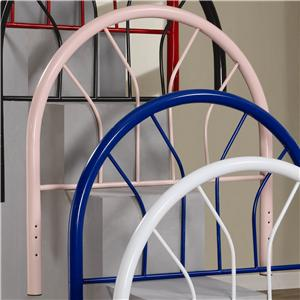 Coaster Youth Beds Twin Pink Metal Headboard