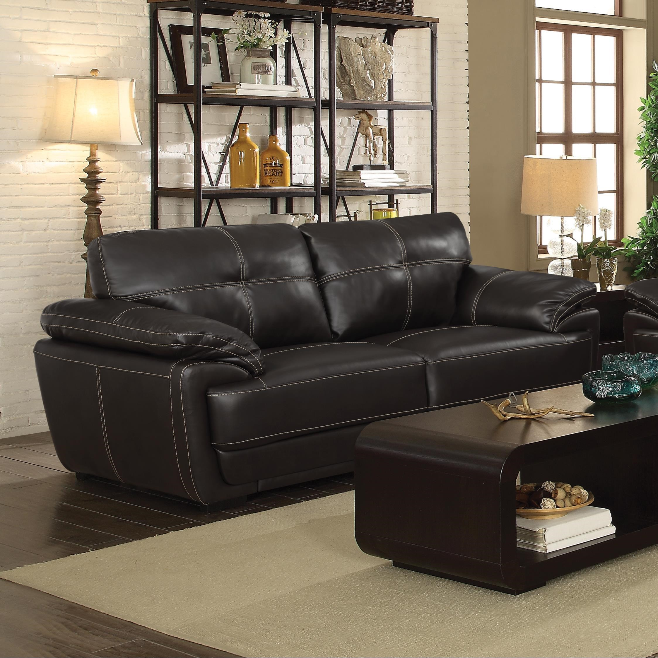 Coaster zenon two cushion sofa with baseball stitching Baseball sofa