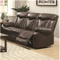 Coaster Zimmerman Power Reclining Sofa - Item Number: 601711P-Breathable BrownLeatherette