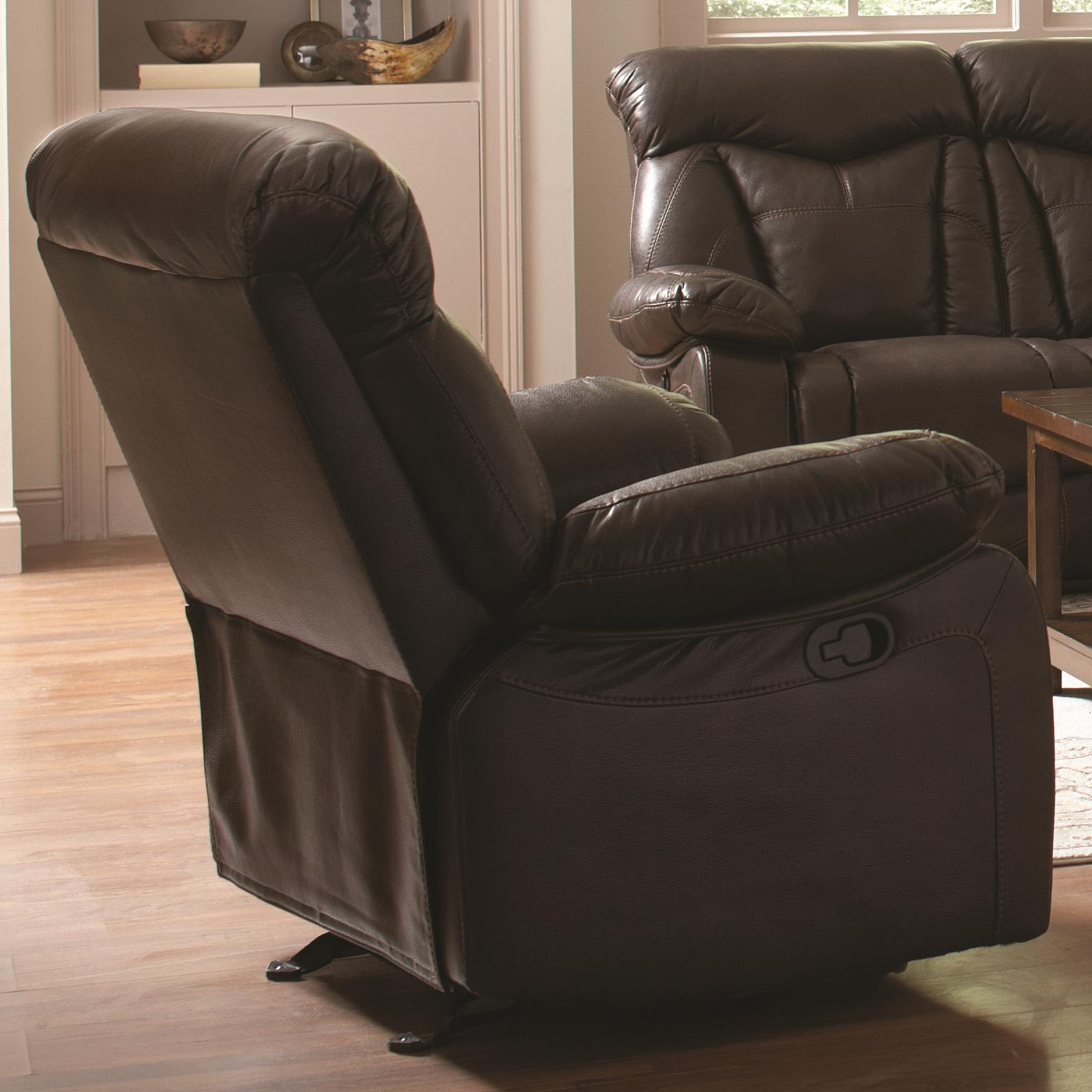 Coaster Zimmerman Recliner - Item Number: 601713-Breathable Brown Leatherette