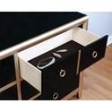 Coaster Zovatto Black and Gold Art Deco Dresser