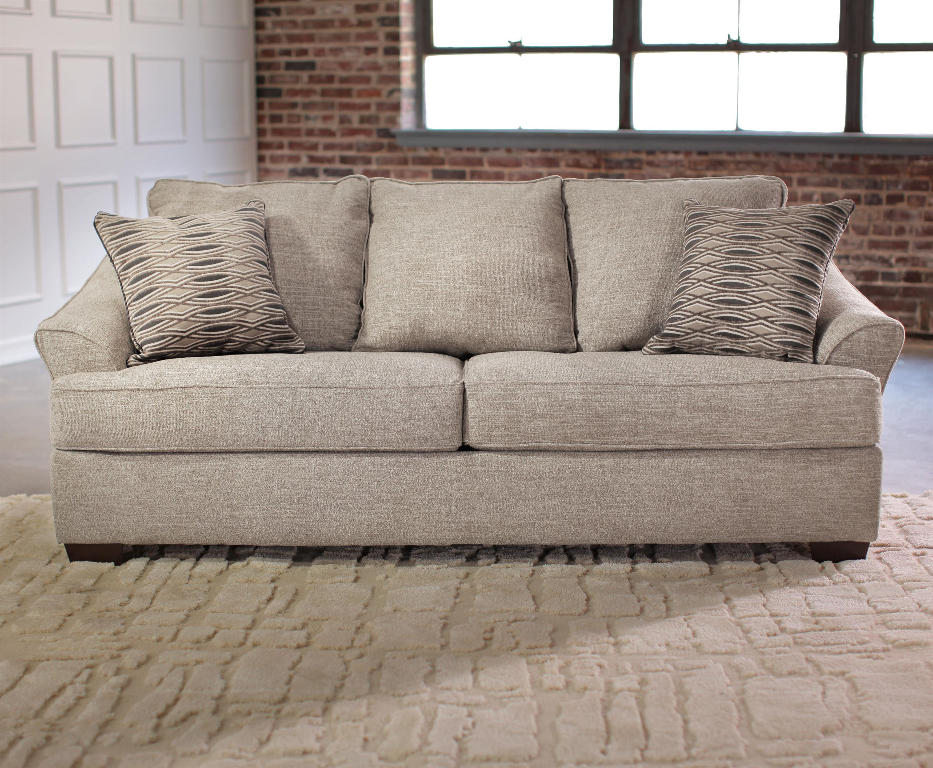 Simmons Upholstery 6520 Queen Sleeper Sofa Royal Furniture