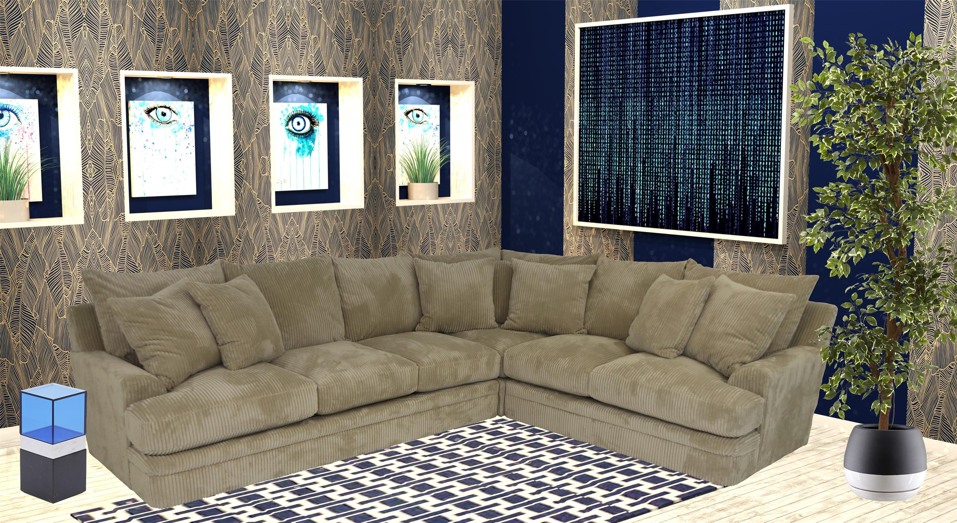 Reeds Trading Company 8000 3 Piece Sectional - Item Number: 8000-Corner+Raf Love+Laf Sofa
