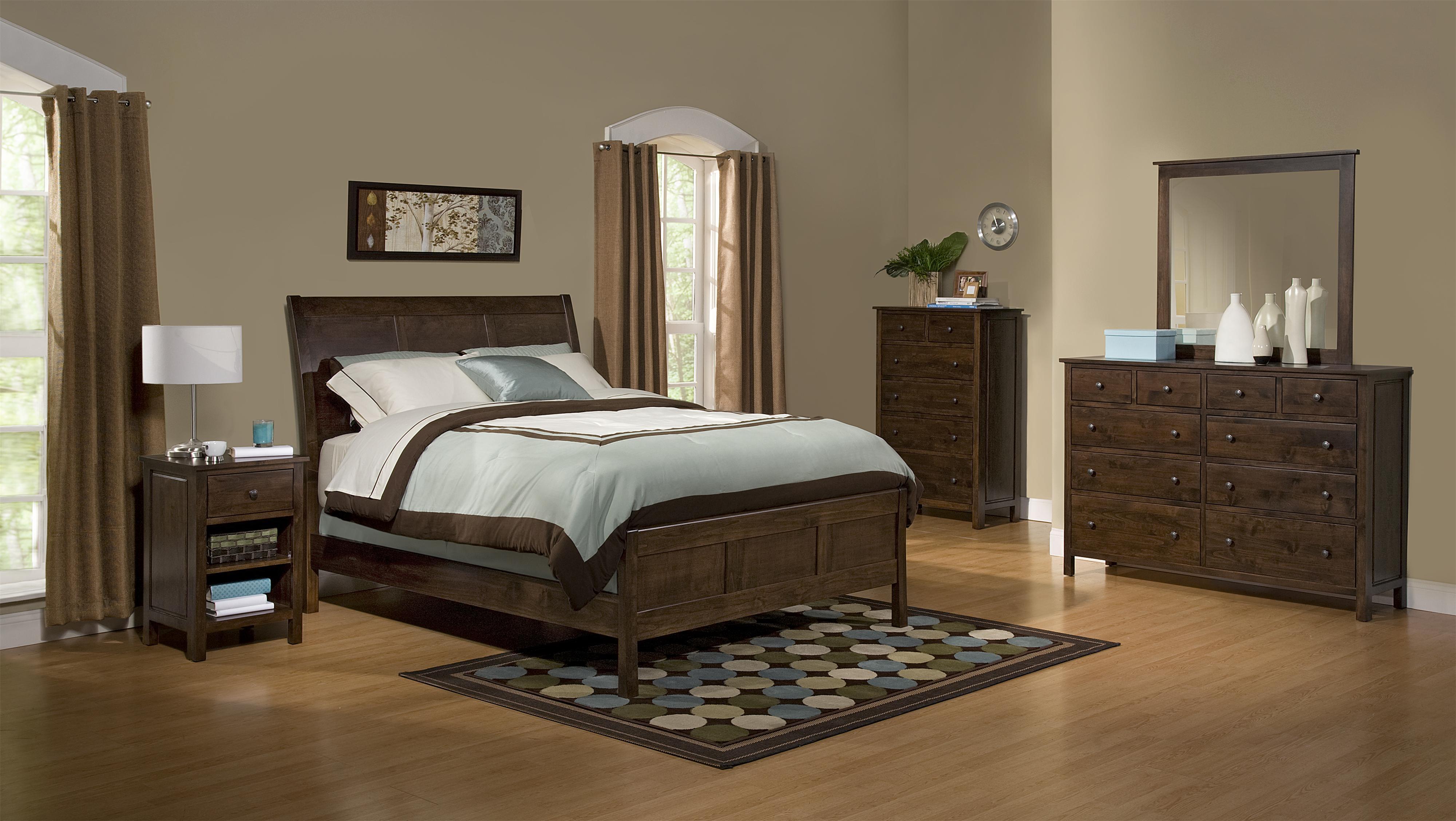 Alder Heritage - Brown Mahogany Queen Bedroom Group by Archbold Furniture at Steger's Furniture