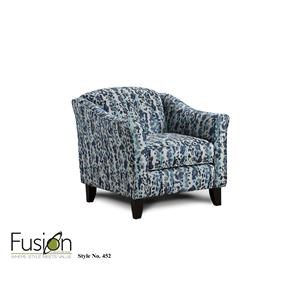 Fusion Furniture Bella Ink Genkhi Fathom Accent Chair