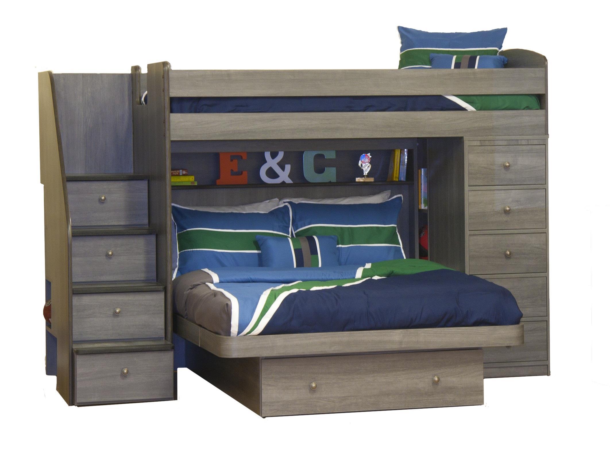 Berg Pewter Pewter Bunk Bed - Item Number: 22-816-AKIT