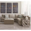 Bassett CU.2 Dalton Sectional sofa with Five Seats - Item Number: 3937-LSECTFCL-Stone