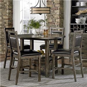 Progressive Furniture Rustic Abaco 5-Piece Counter Height Table Set