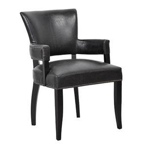 Morris Home Dining Collection Sophie Leather Dining Arm Chair