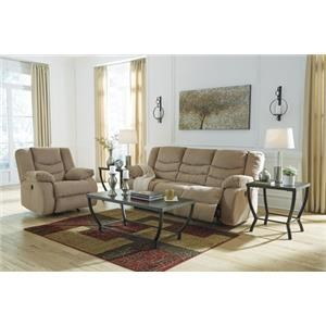 Signature Design by Ashley Geoffstown Reclining Power Sofa and Recliner
