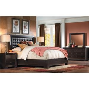 IdeaItalia Arketipo 5pc Queen Bedroom Set Caramel