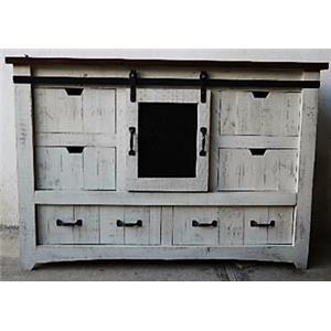 Vintage Mesh Barnwood Dresser