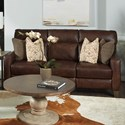 Southern Motion Mt. Vernon Double Reclining Power Sofa with Pillows - Item Number: 686-32P-970-22