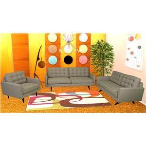 Reeds Trading Company Roxy Mid Century Modern Sofa