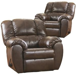 RG Buy One Get One Recliners Berna Bonded Leather Match Rocker Recliner