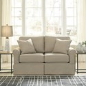 Signature Design by Ashley Senchal Contemporary Loveseat with Skirt