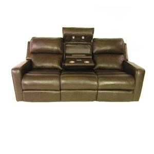 Recline It Recline It Leather Sofa with motion