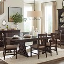 Magnussen Home St. Claire 6 Pc Dining Set w/ Bench - Item Number: D4210-20+79+4X62