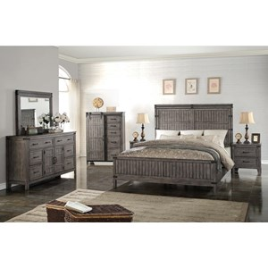 Vendor 1356 Storehouse Collection King Bedroom Group