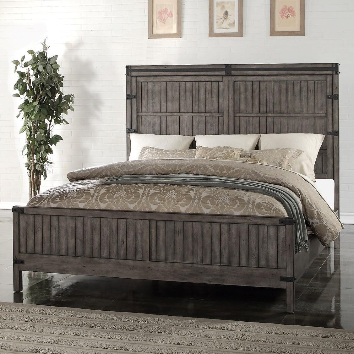 King Wood Panel Bed