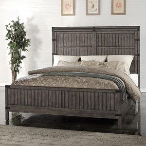 Legends Furniture Storehouse Collection Queen Wood Panel Bed