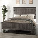 Vendor 1356 Storehouse Collection King Wood Panel Bed - Item Number: ZSTR-7004+7005+7003