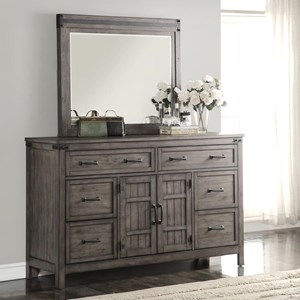 Legends Furniture Storehouse Collection Storehouse 6 Drawer Dresser and Mirror