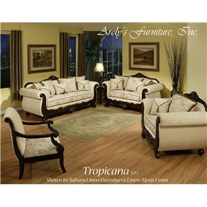 Del Sol Exclusive Tropicana By Arely's Furniture Tropicana Love Seat