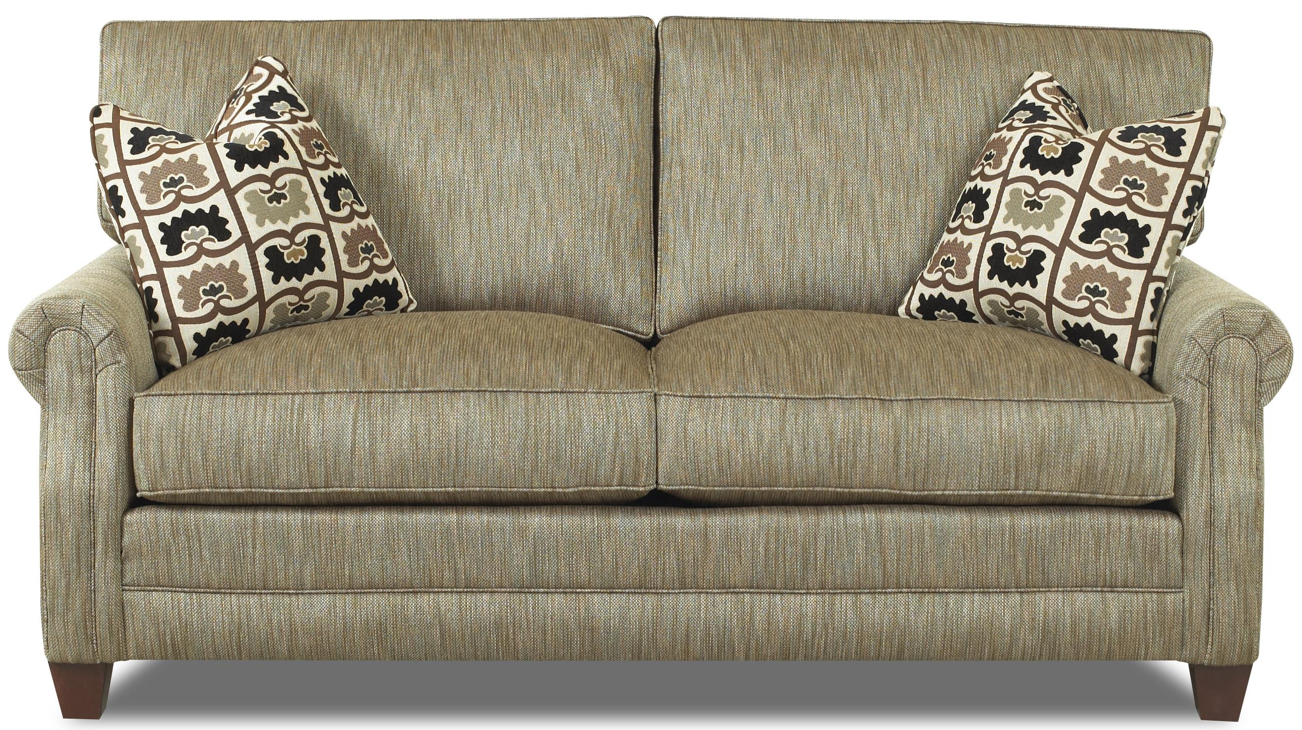 Comfort Design Camelot Love Seat With Exposed Wooden Legs