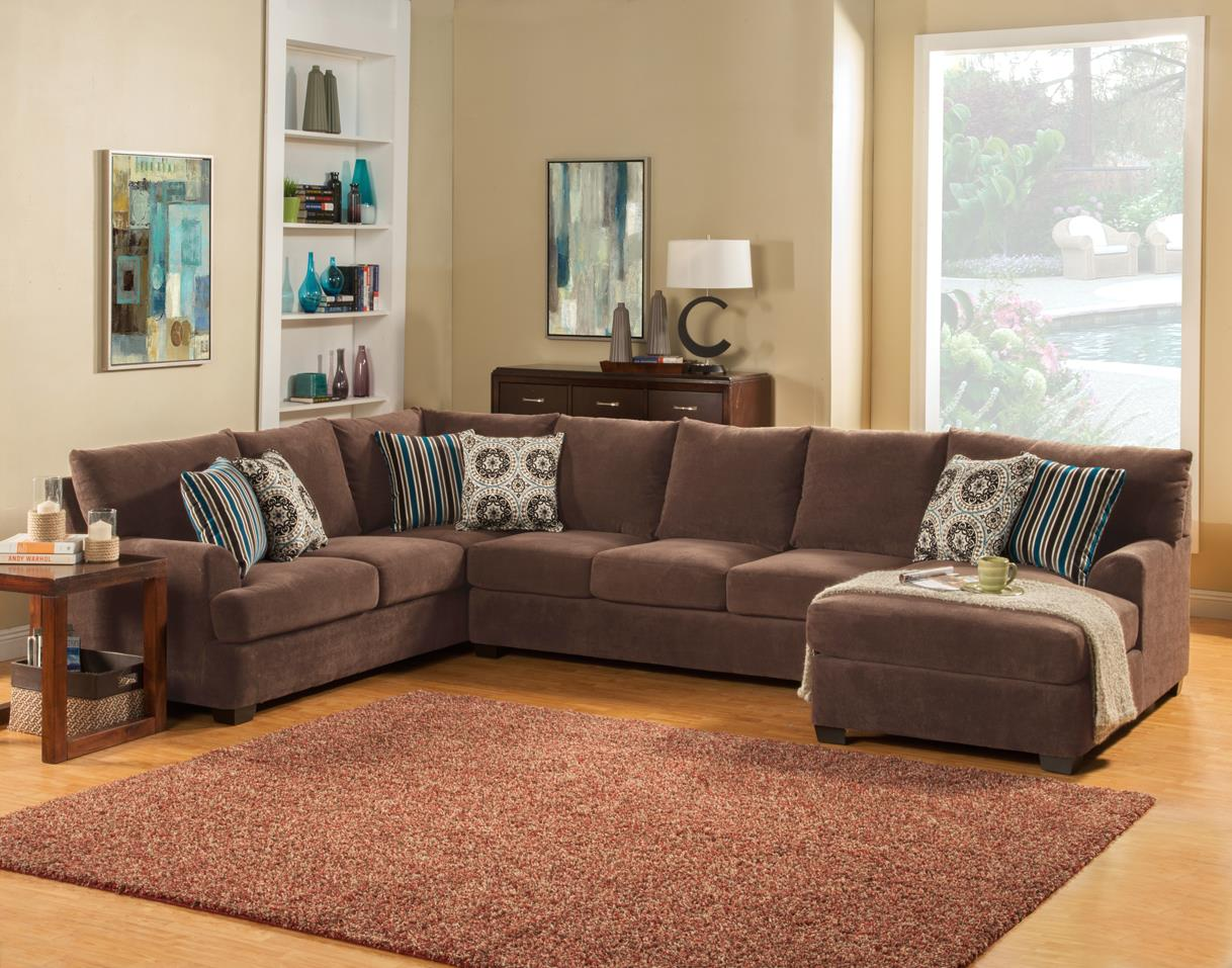 Comfort Industries Abrego 3 pc. Sectional 3 piece Sectional - Item Number: Abrego RAF chaise Sectional