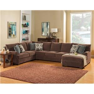 Comfort Industries Abrego 3 pc. Sectional 3 piece Sectional