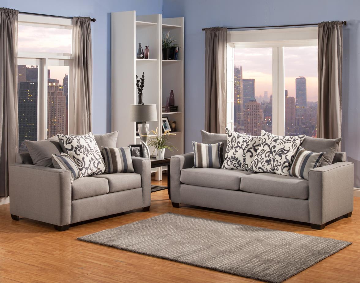 Comfort Industries Mist Grey Mist Grey Living Room Group - Item Number: Mist-SofanLove