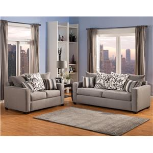Comfort Industries Mist Grey Mist Grey Living Room Group