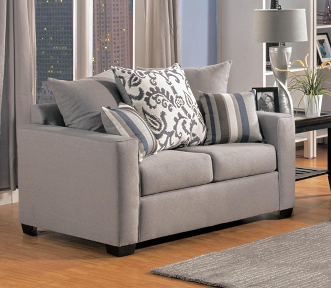 Comfort Industries Mist Grey Mist Grey Love Seat - Item Number: MISTGREY-LOVESEAT