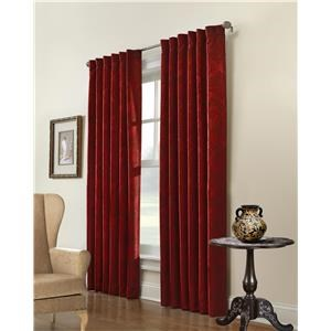Commonwealth Home Fashions Belgique Woven Fabric Window Panel
