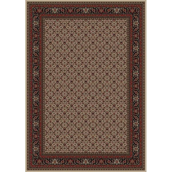 Concord Global Trading Inc. Presidential Red-Ivory 7.10 x 11.2 Area Rug : Red-Ivory - Item Number: 965001058