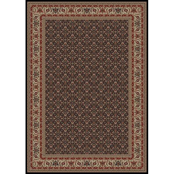 Concord Global Trading Inc. Presidential Black-Red 5.3 x 7.7 Area Rug : Black-Red - Item Number: 965001135