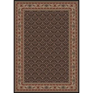 Concord Global Trading Inc. Presidential Black-Red 5.3 x 7.7 Area Rug : Black-Red