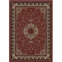 Concord Global Trading Inc. Presidential Red-Ivory 5.3 x 7.7 Area Rug : Red-Ivory - Item Number: 965001539
