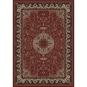 Concord Global Trading Inc. Presidential Red-Ivory 7.10 x 11.2 Area Rug : Red-Ivory