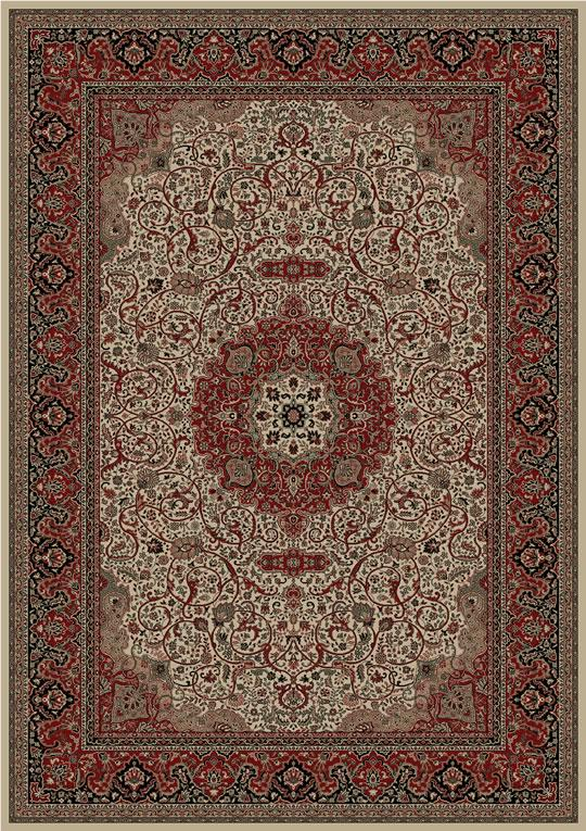 Concord Global Trading Inc. Presidential 6.7 x 9.6 Area Rug : Ivory - Item Number: 965001440