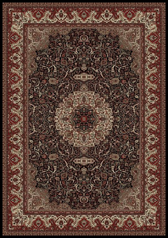 Concord Global Trading Inc. Presidential 6.7 x 9.6 Area Rug : Black - Item Number: 965001349