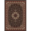 Concord Global Trading Inc. Presidential 7.10 x 11.2 Area Rug : Black - Item Number: 965001351