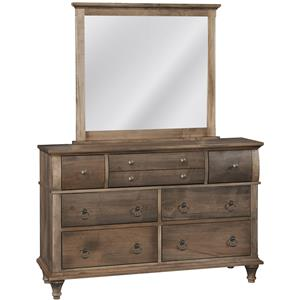 Conrad Grebel Madison Dresser and Mirror Set