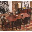 Conrad Grebel Montclair  7 Piece Dining Set - Item Number: X3460+2x125A+4x120S