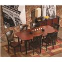 Conrad Grebel Montclair  Boat-Shaped Dining Table