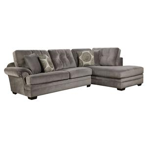 Corinthian 16B0 Small Sectional Sofa with Chaise (on Right Side)