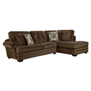 Corinthian 16C0 Small Sectional Sofa with Chaise (on Right Side)